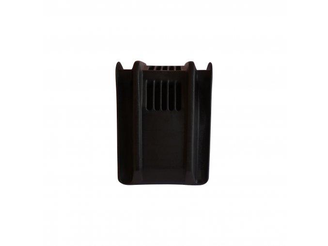 Ochranný plastový roh kurty 185x145x150 černý k-faktor 1,79 s výstuží