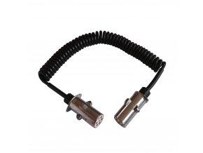 Kabel propojovací 1+6d bílý 4,5m kov.