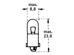 24V T2W BA9s TRIFA 10ks