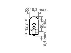 24V W3W 2,1x9,5d TRIFA 10ks