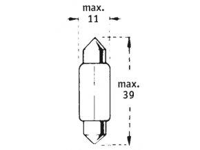 24V C5W SV8,5-8  39mm TRIFA 10KS