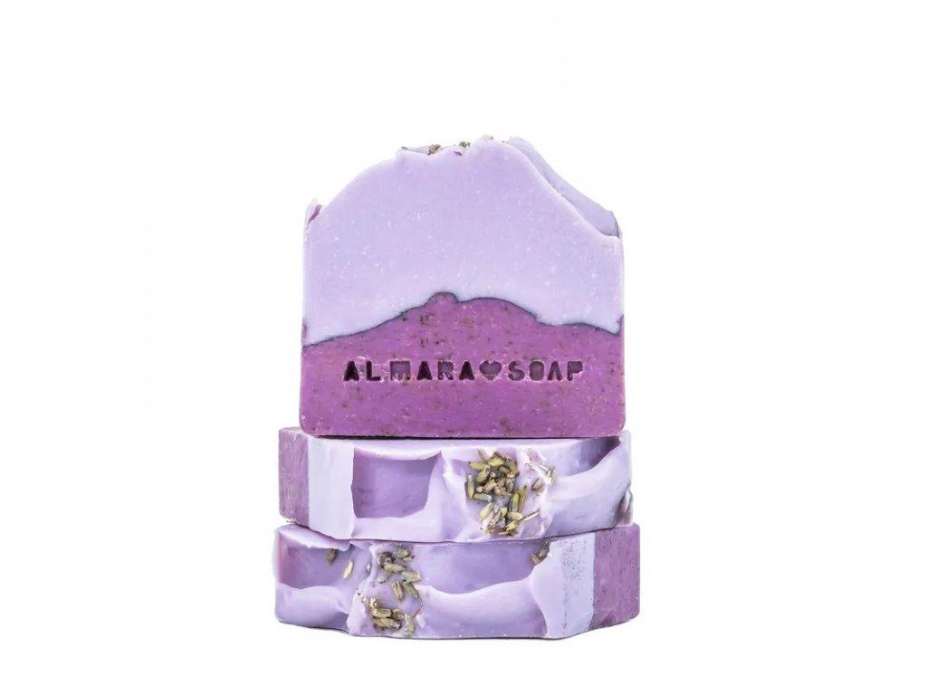 Designové ručně vyrobené mýdlo ALMARA SOAP LAVENDER FIELDS