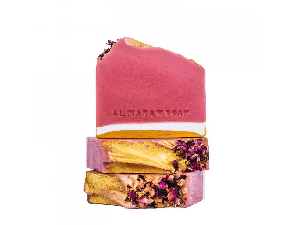 Designové ručně vyrobené mýdlo ALMARA SOAP RŮŽOVÝ GREP