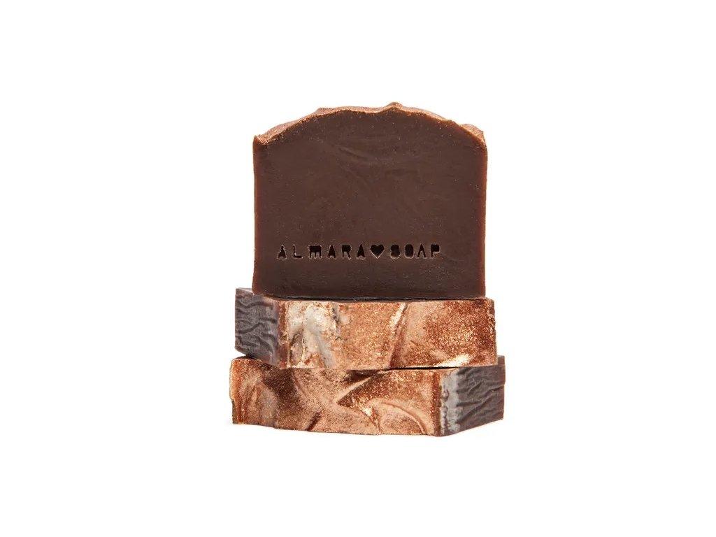 Designové ručně vyrobené mýdlo ALMARA SOAP GOLD CHOCOLATE