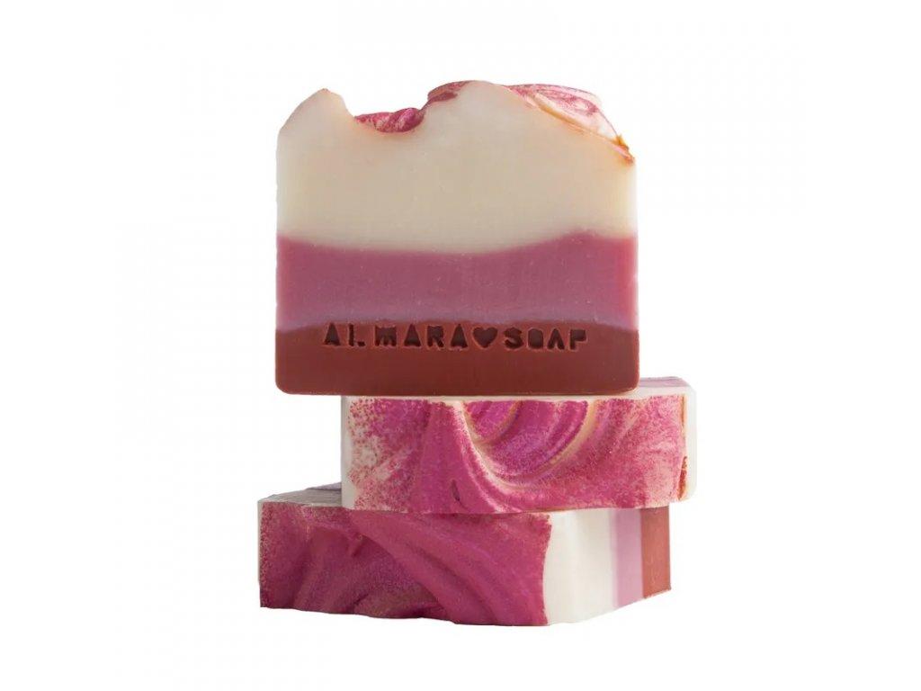 Designové ručně vyrobené mýdlo ALMARA SOAP BOŽSKÉ MALINY