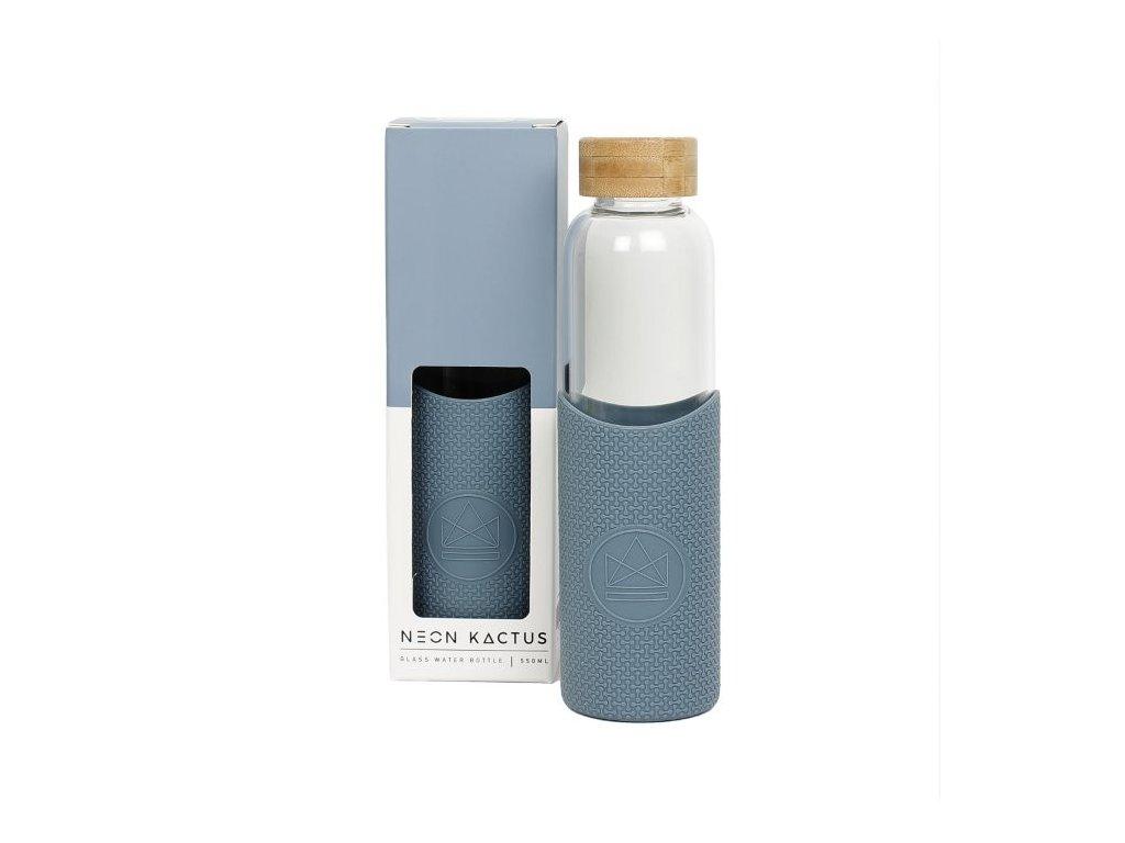 glass water bottle super sonic blue 550ml