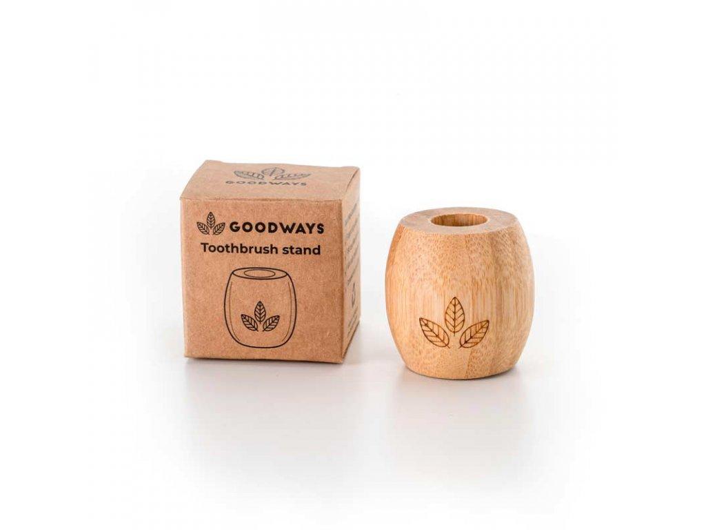 GoodWays bambusový stojánek na kartáček