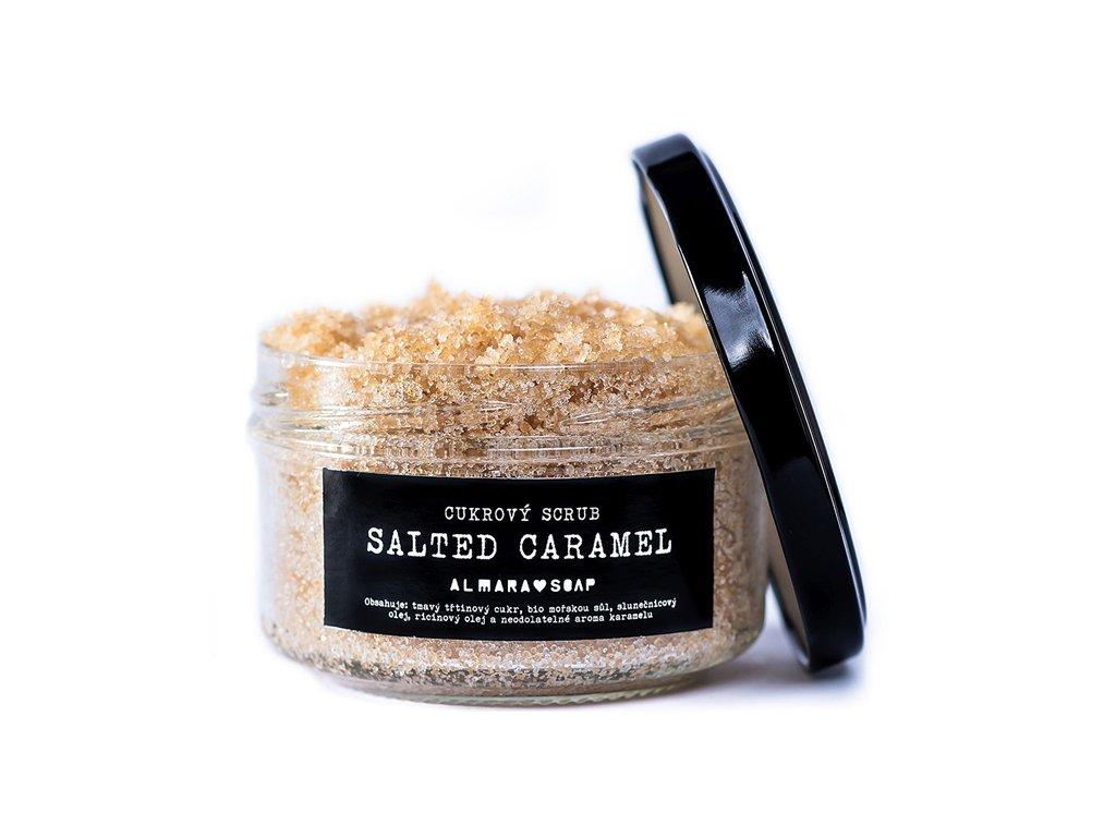Přírodní cukrový scrub na tělo ALMARA SOAP SALTED CARAMEL