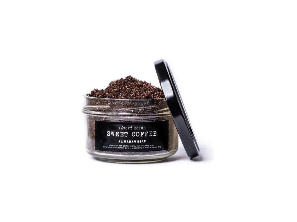Přírodní kávový scrub na tělo i obličej ALMARA SOAP SWEET COFFEE