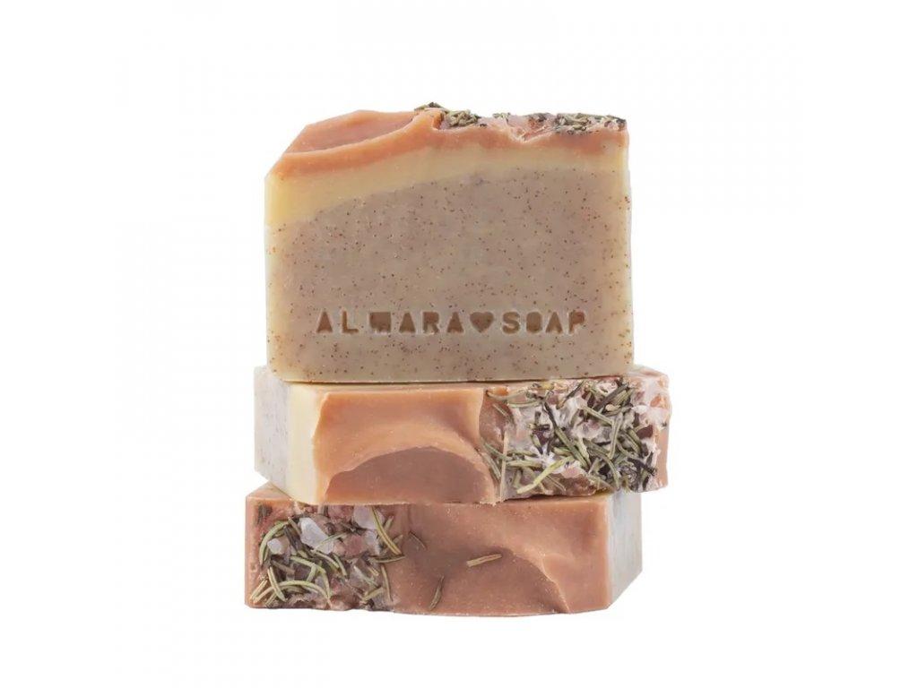 Přírodní ručně vyrobené mýdlo ALMARA PEELING WALNUT