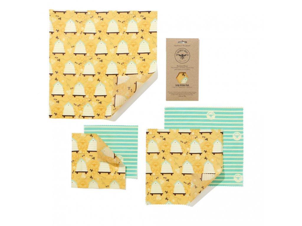 Látkové ubrousky na potraviny BeesWaxWraps Large Kitchen Pack