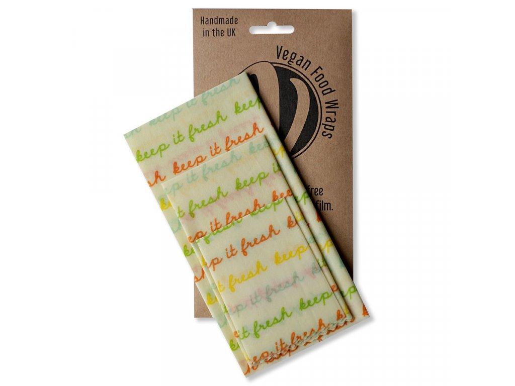 Látkové ubrousky na potraviny Vegan Food Wraps Medium Kitchen Pack