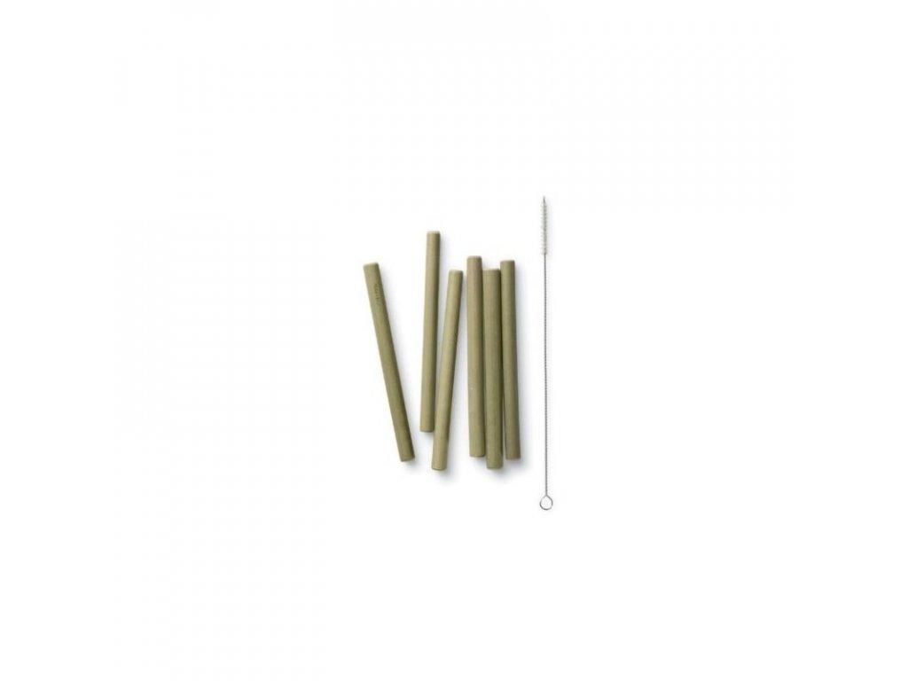 Bambusové brčko na pití BamBu - krátká (6 ks)
