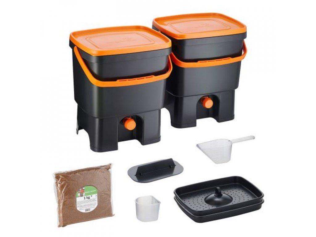 Domácí kompostér BOKASHI ORGANKO (SKAZA) - sada 2 ks