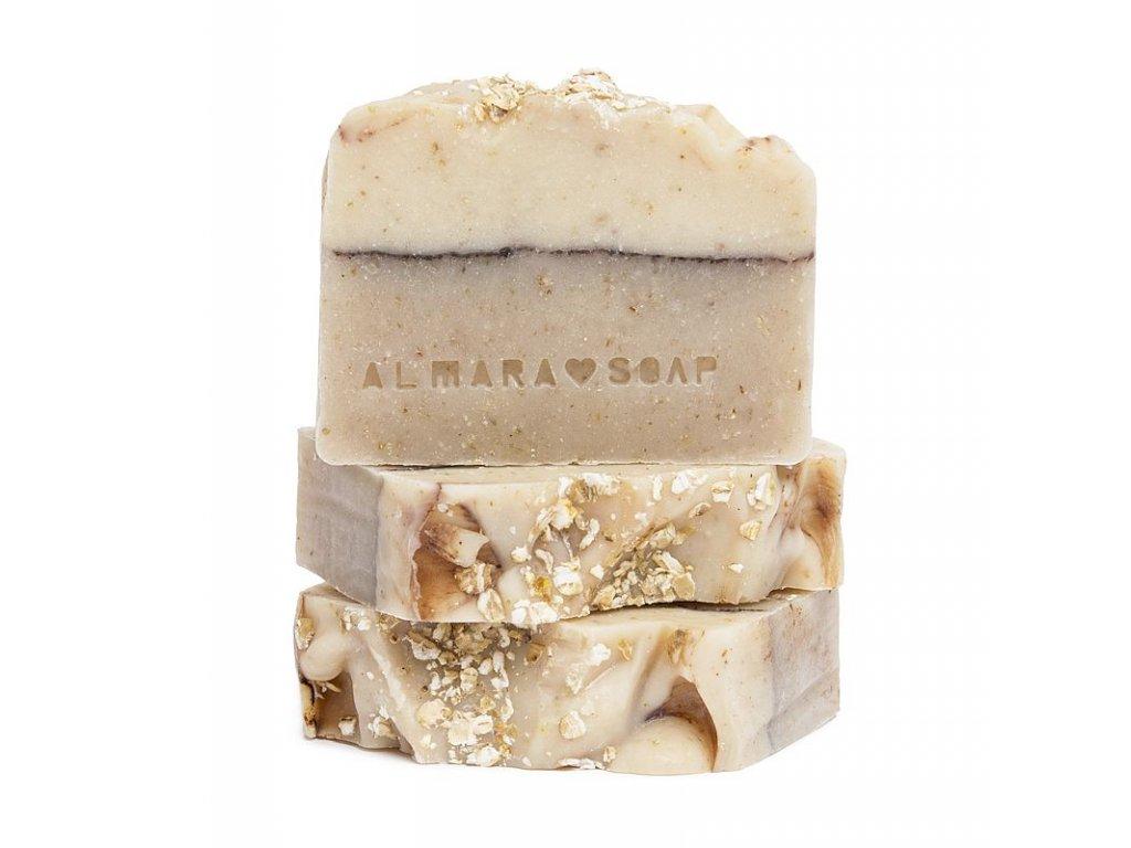 Přírodní ručně vyrobené mýdlo ALMARA SOAP OVESNÝ KOLÁČ