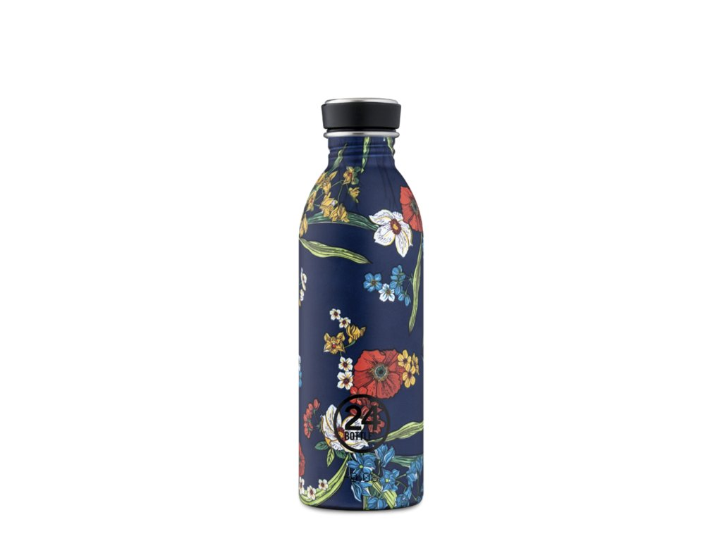 Láhev na pití 24Bottles DENIM BOUQUET 0,5l