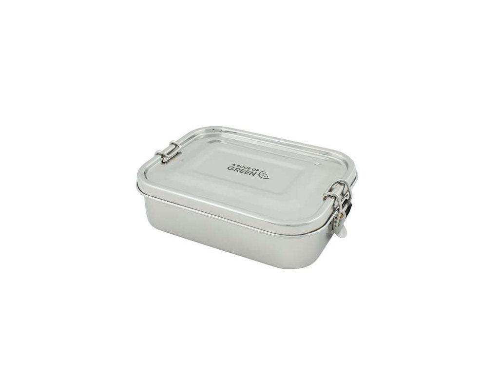 Nerezová krabička / box na svačinu SLICE OF GREEN - ADONI 675 ml