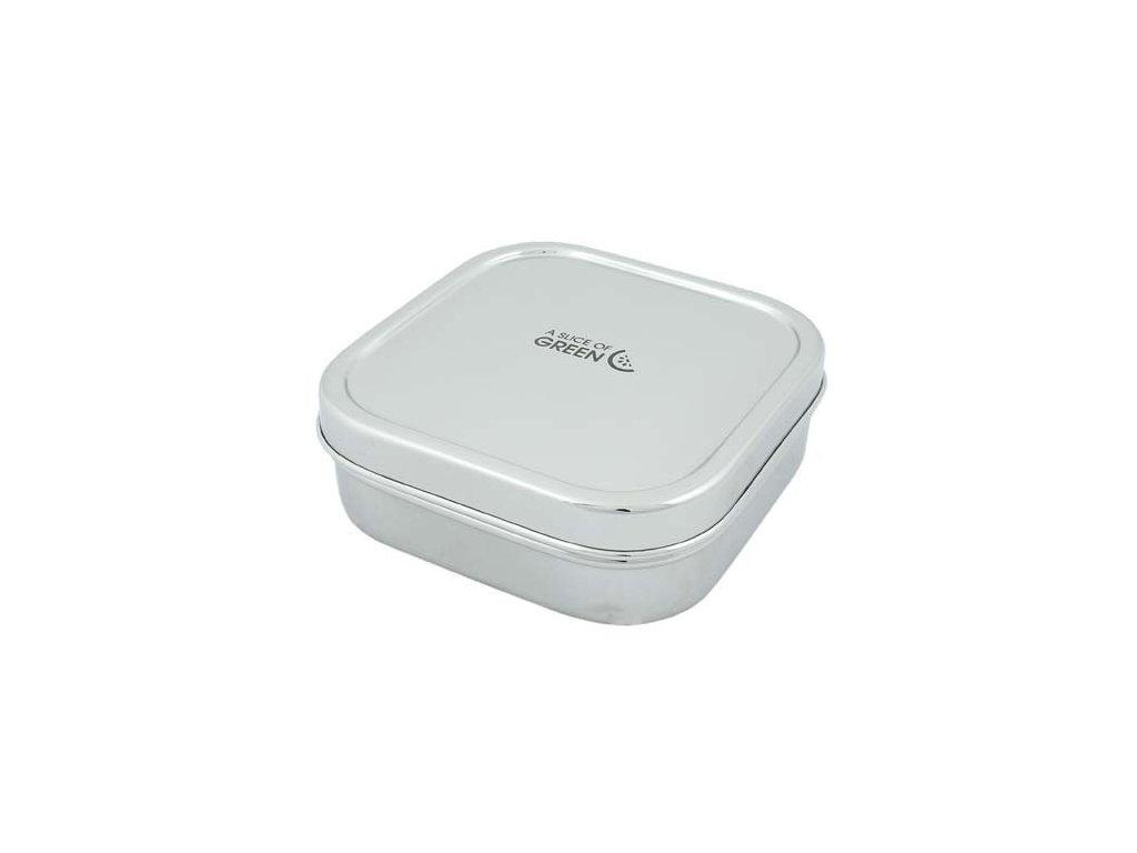 Nerezová krabička / box na svačinu SLICE OF GREEN - SHIMLA 750 ml