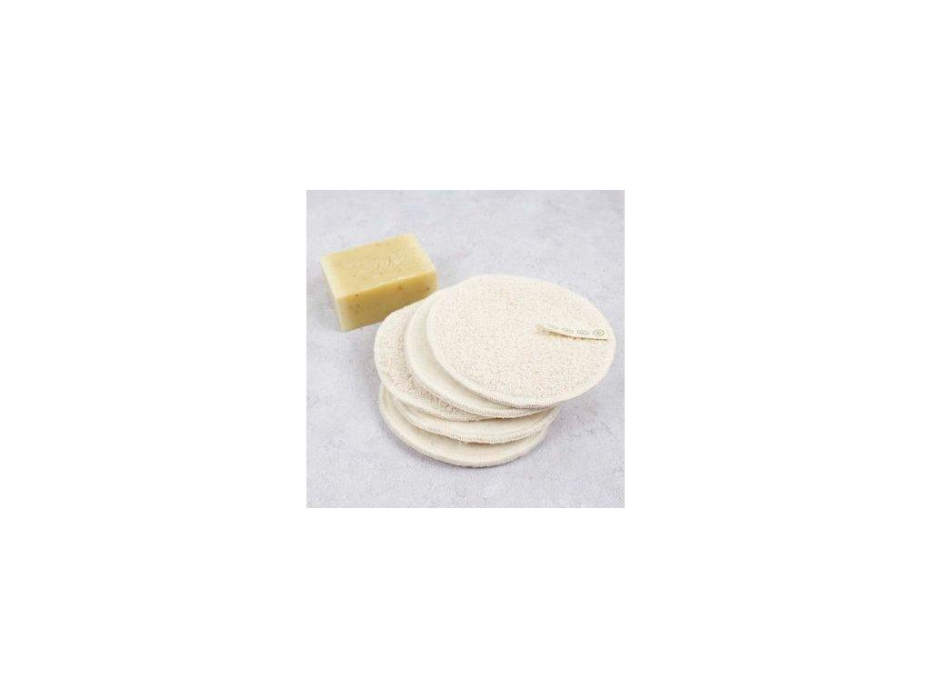 SET (5 ks) kosmetické odličovací tampony SLICE of GREEN, 9,5 cm (5 ks)