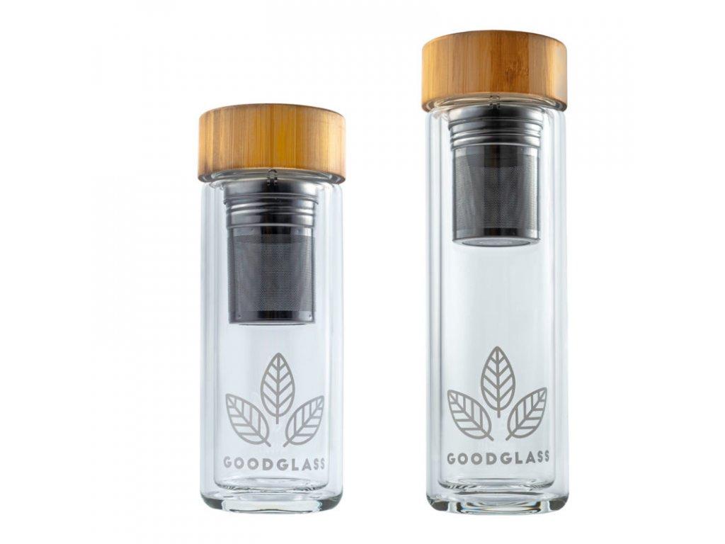 Skleněná láhev / termoska na pití GoodGlass THERMO 450 ml