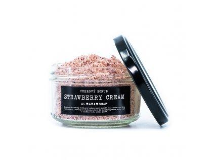 Přírodní cukrový scrub na tělo ALMARA SOAP STRAWBERRY CREAM
