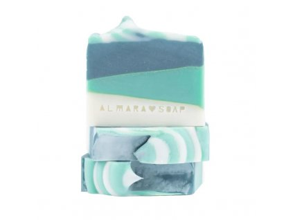 Designové ručně vyrobené mýdlo ALMARA SOAP GREEN TEA CUCUMBER