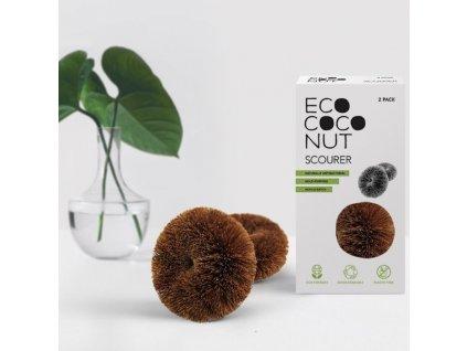 Houbička na mytí nádobí EcoCocoNut (2 ks)