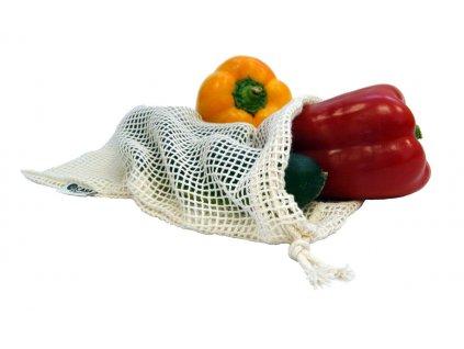Síťovaný pytlík z biobavlny Casa Organica - malý (30x20 cm)