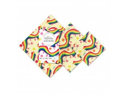 Látkový voskovaný ubrousek BeeBee Wrap - THE MIXED PACK
