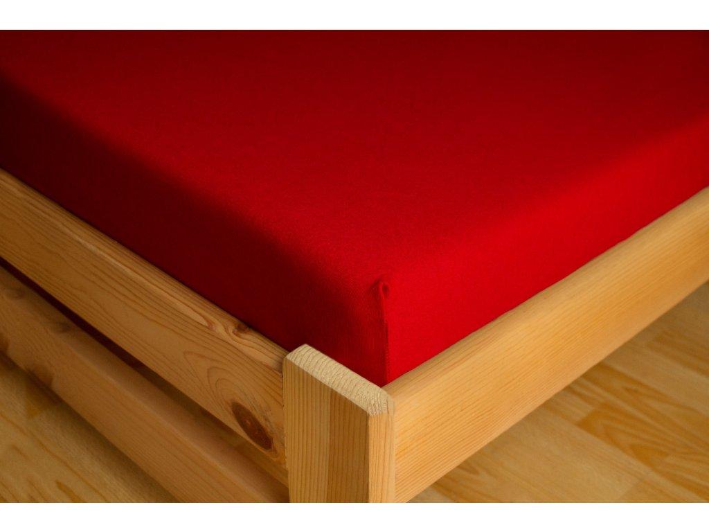 Prostěradlo Jersey Premium 180x200 Červená 100% bavlna
