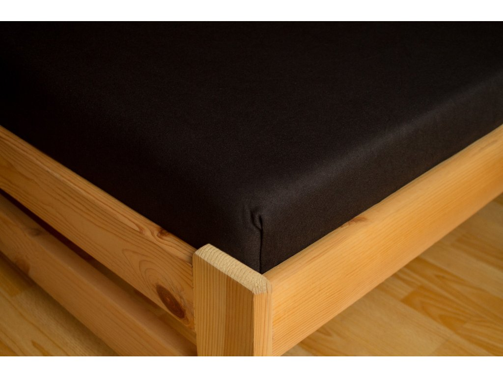 Prostěradlo Jersey Premium 180x200 Černá 100% bavlna