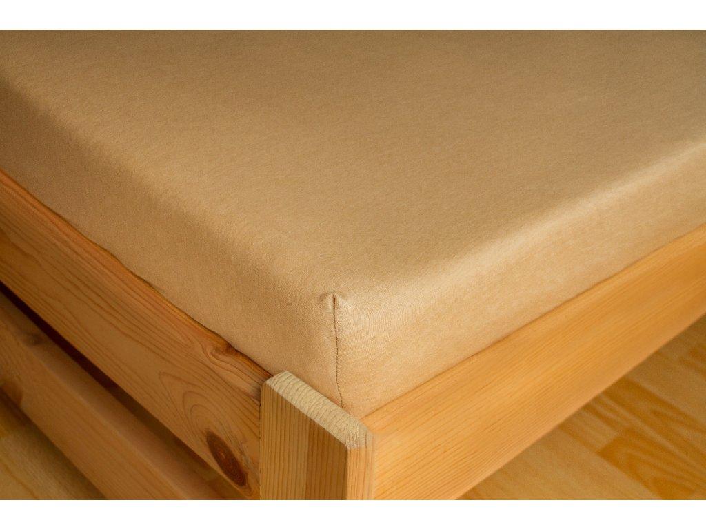 Prostěradlo Jersey 90x200 Světle béžová 100% bavlna