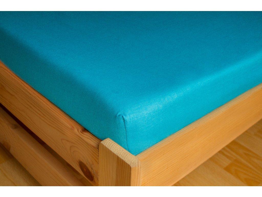 Prostěradlo Jersey 90x200 Světle modrá 100% bavlna