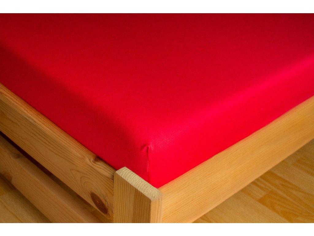 Prostěradlo Jersey 90x200 Červená 100% bavlna