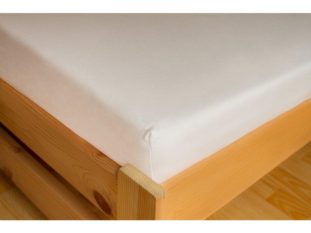 Prostěradlo Jersey 180x200 Bílá 100% bavlna