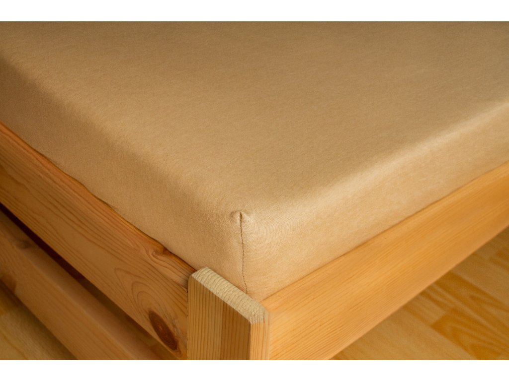 Prostěradlo Jersey 180x200 Světle béžová 100% bavlna