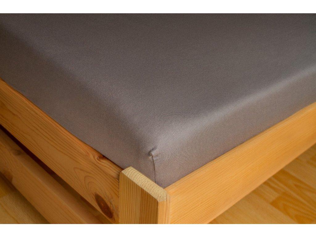 Prostěradlo Jersey 180x200 Tmavě šedá 100% bavlna