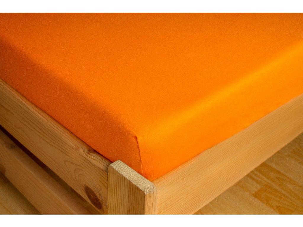 Prostěradlo Jersey 180x200 Oranžová 100% bavlna