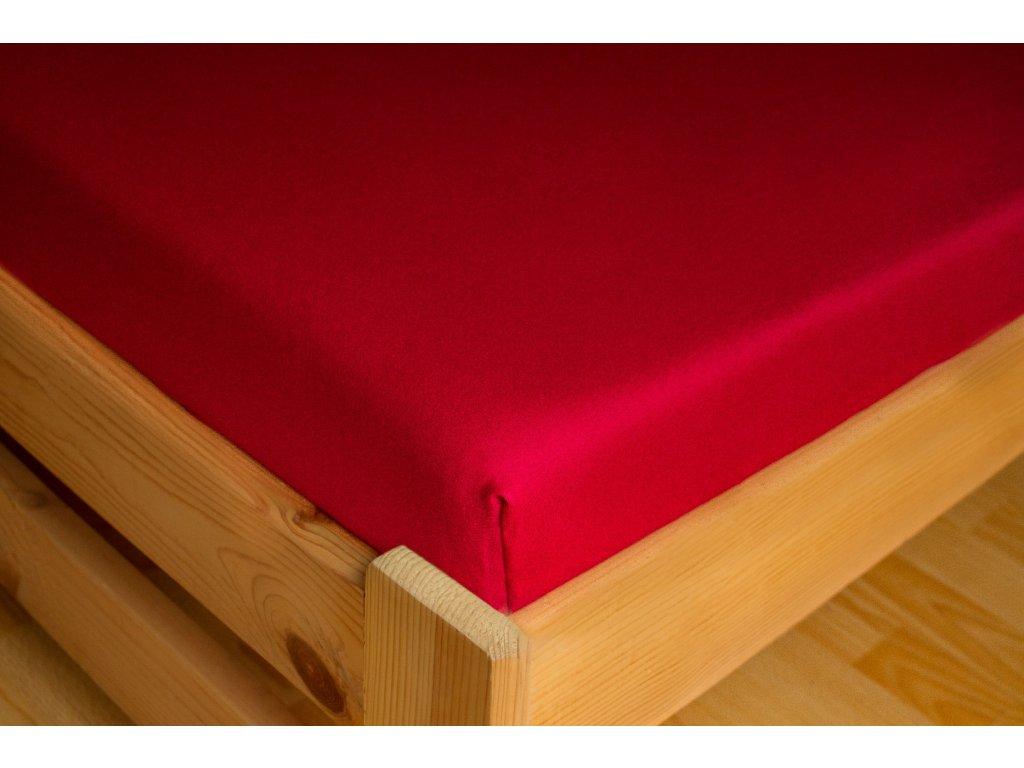 Prostěradlo Jersey 180x200 Bordová 100% bavlna