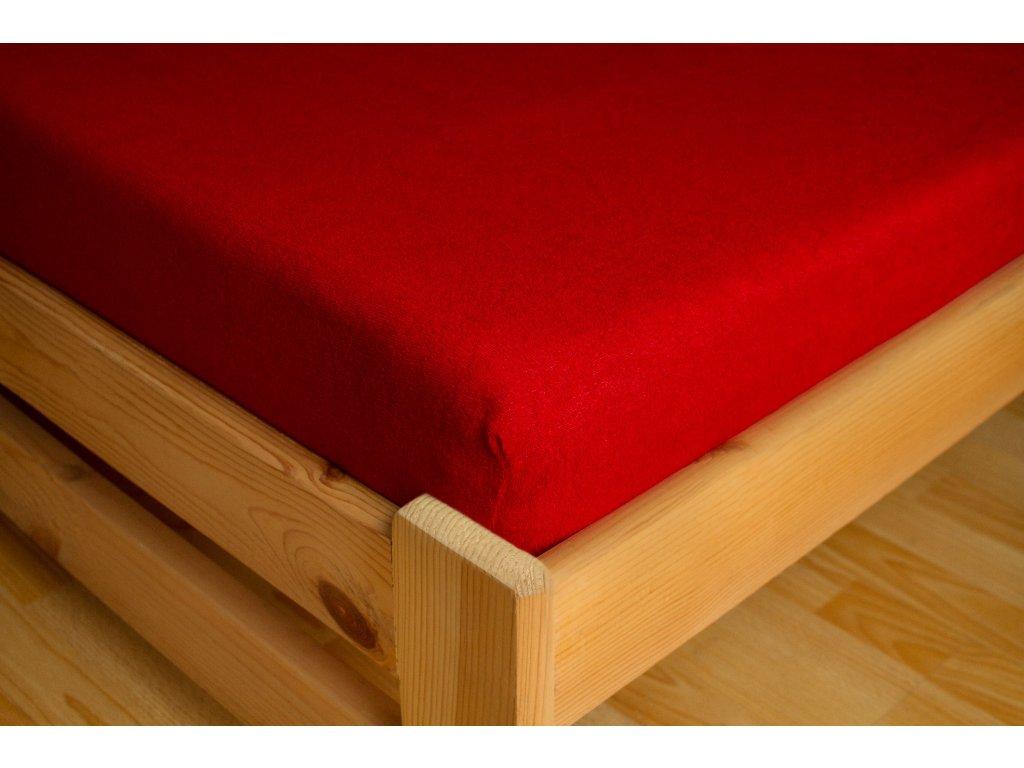 Prostěradlo Frote Premium 90x200 cm, Červená