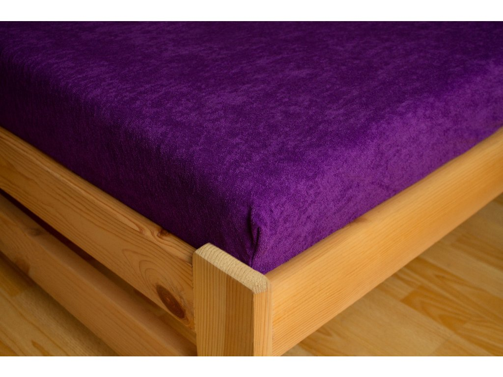 Prostěradlo Frote Premium 180x200 cm, Tmavě fialová