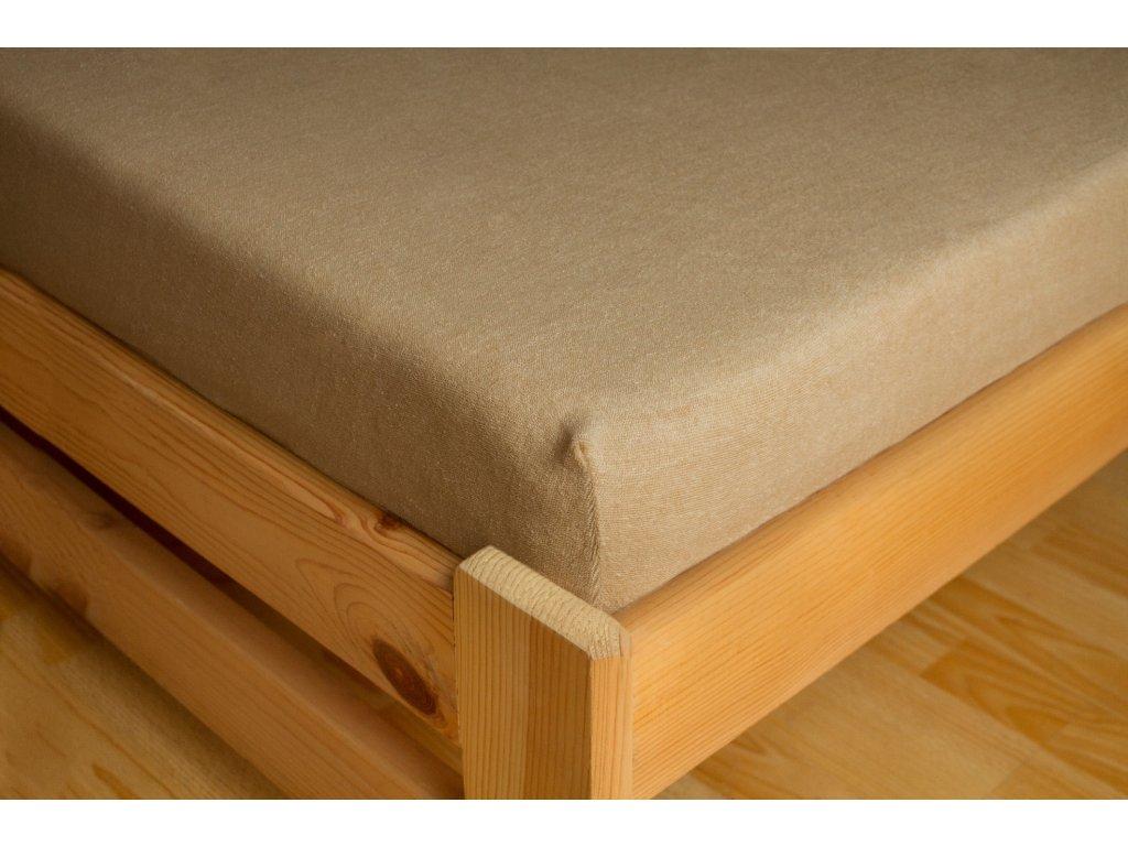 Prostěradlo Frote 90x200 Světle hnědá 80% bavlna a 20% polyester