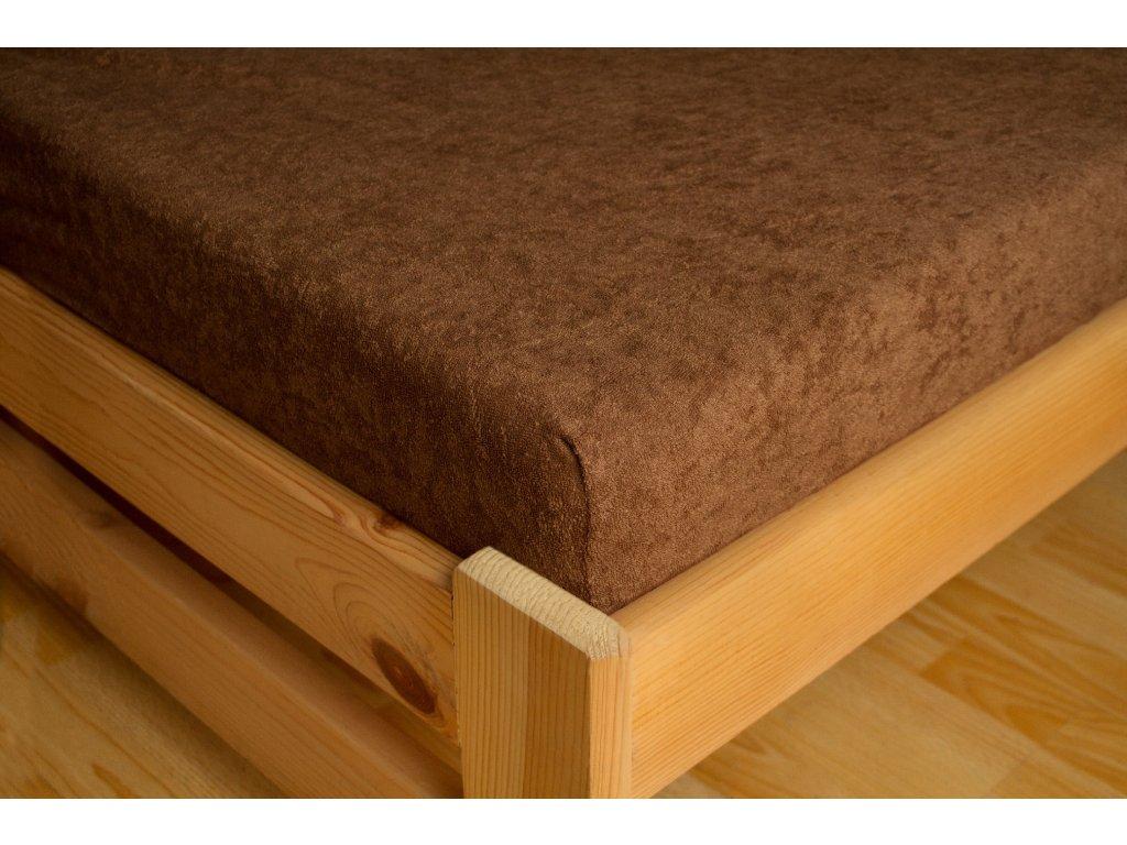 Prostěradlo Frote 90x200 Sytě hnědá 80% bavlna a 20% polyester