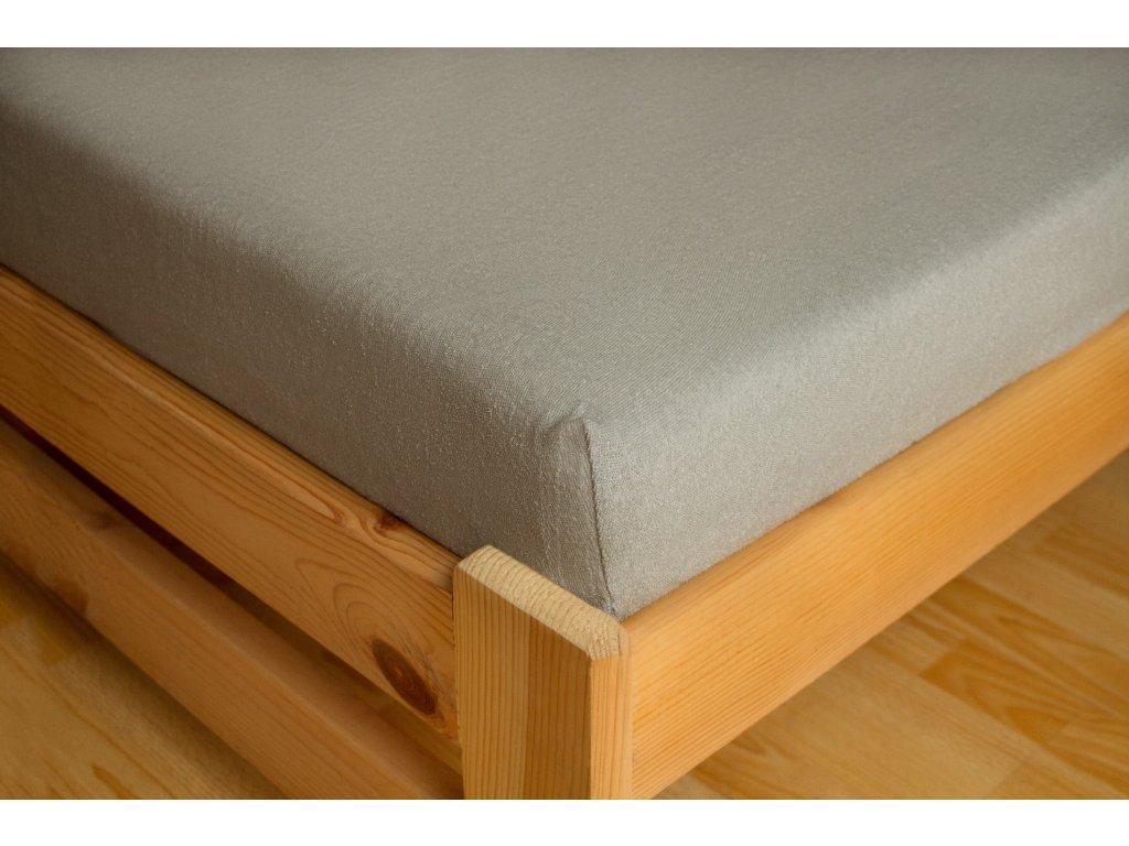 Prostěradlo Frote 90x200 Světle šedá 80% bavlna a 20% polyester