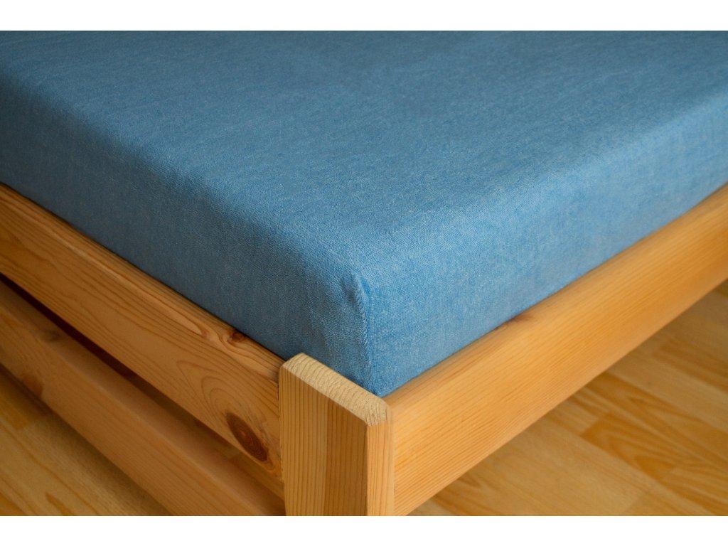 Prostěradlo Frote 90x200 Světle modrá 80% bavlna a 20% polyester