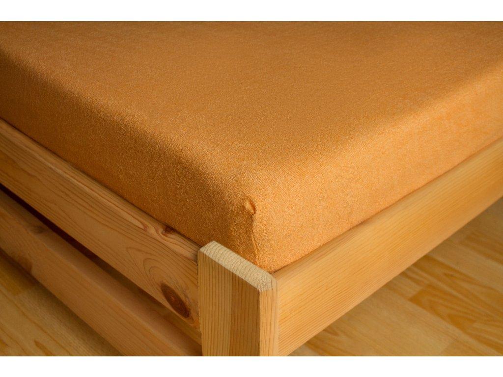 Prostěradlo Frote 90x200 Oranžová 80% bavlna a 20% polyester