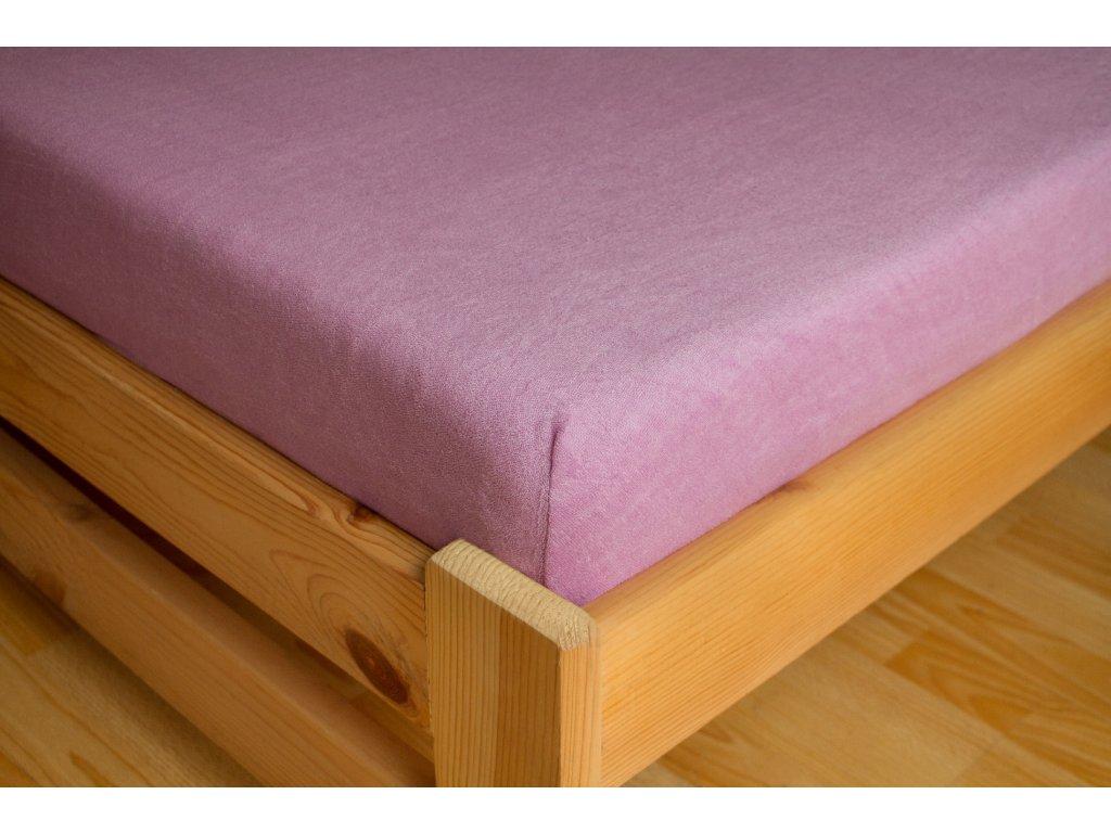 Prostěradlo Frote 90x200 Růžová 80% bavlna a 20% polyester