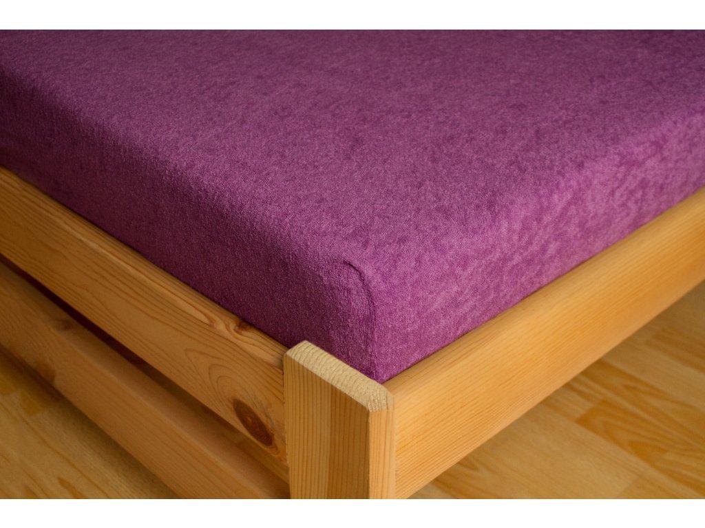 Prostěradlo Frote 180x200 Světle fialová 80% bavlna a 20% polyester
