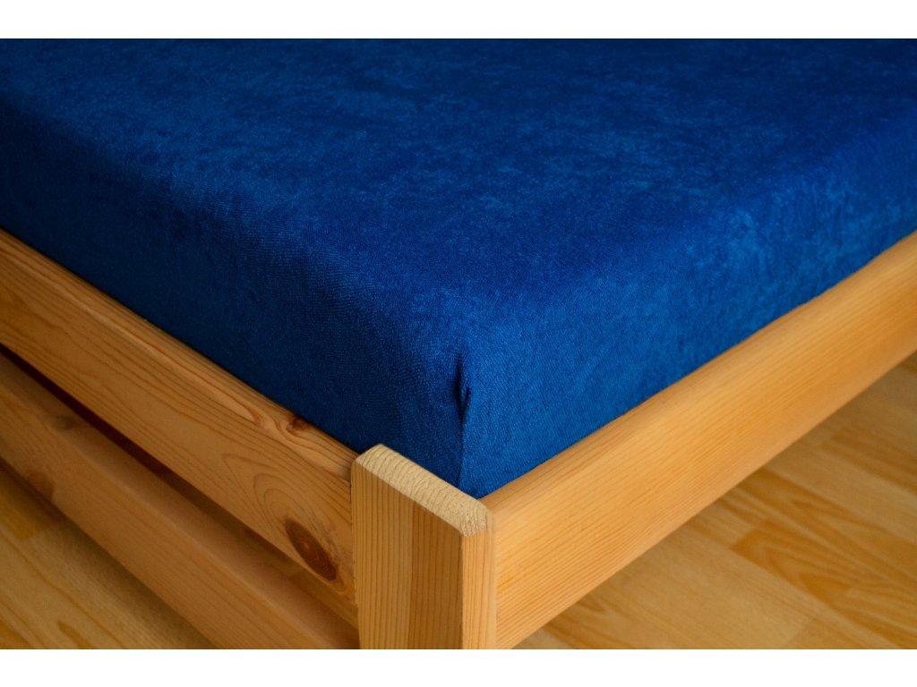 Prostěradlo Frote 180x200 Tmavě modrá 80% bavlna a 20% polyester