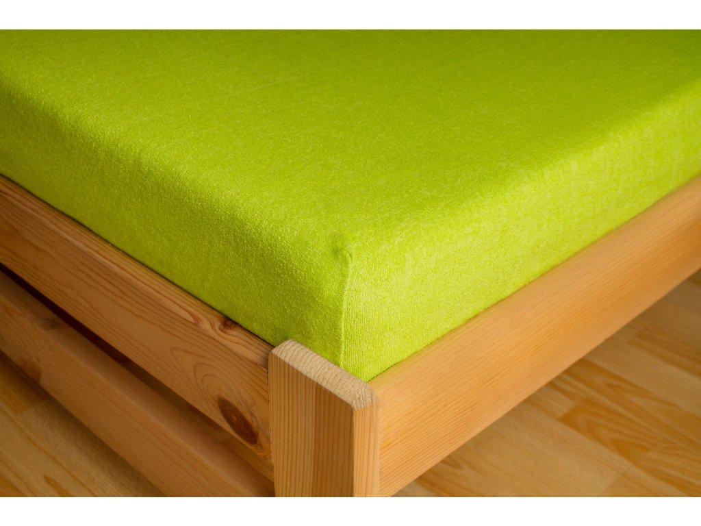 Prostěradlo Frote 180x200 Tmavě zelená 80% bavlna a 20% polyester